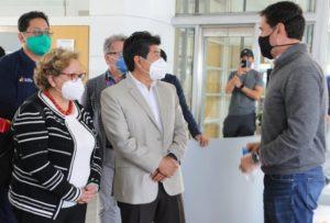 Visita alcalde gimnasios de Quito