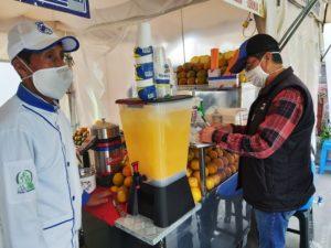 Muestras de alimento parque La Carolina