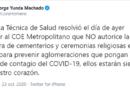 Mesa Técnica de Salud recomendó a COE Metropolitano la no apertura de cementerios