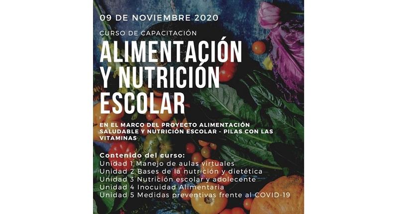 Curso virtual 'Alimentación y Nutrición Escolar'