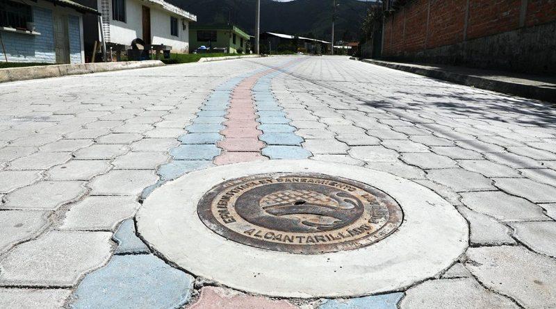 Obras Yaruquí y Tababela calle Andrómeda