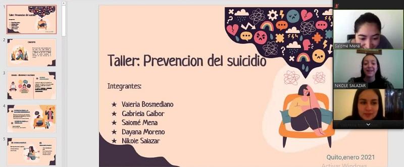 Talleres prevención de suicidios