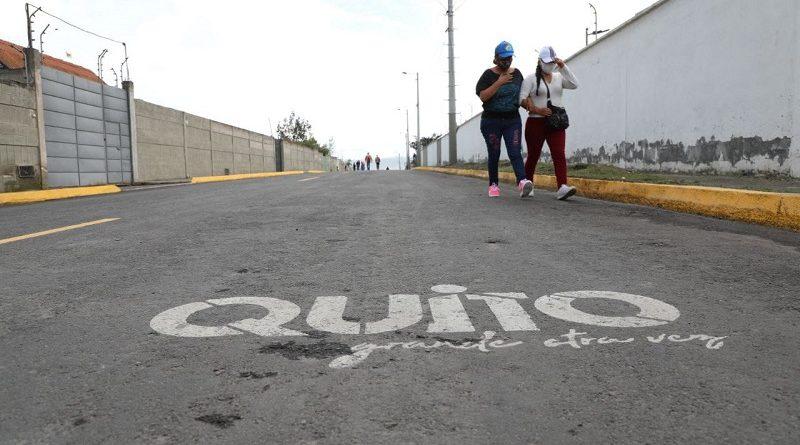 Inauguración vía San José de Morán