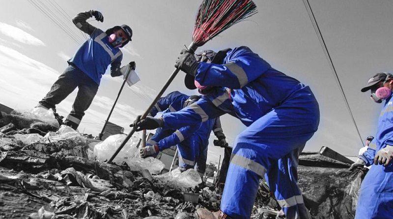 Soldados azules se enfrentaron a la pandemia