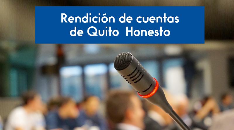 Participación rendición cuentas Quito Honesto
