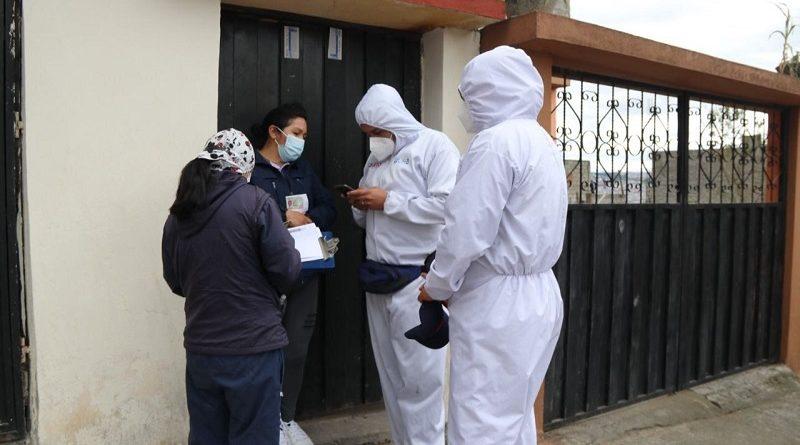 Búsqueda de casos covid en 10 barrios