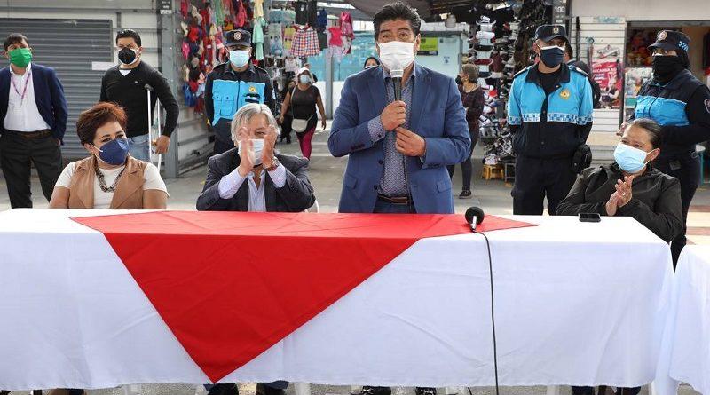 Comerciantes Plaza La Michelena apoyan alcalde