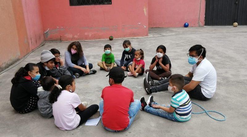 Niños del barrio La Cristianía