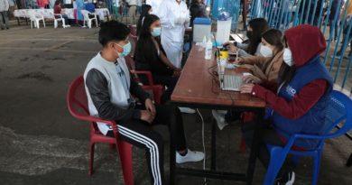 El Mercado Las Cuadras se convirtió en un centro de vacunación masiva