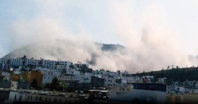 Afectación a la calidad de aire en Pomasqui por deslizamiento de tierra