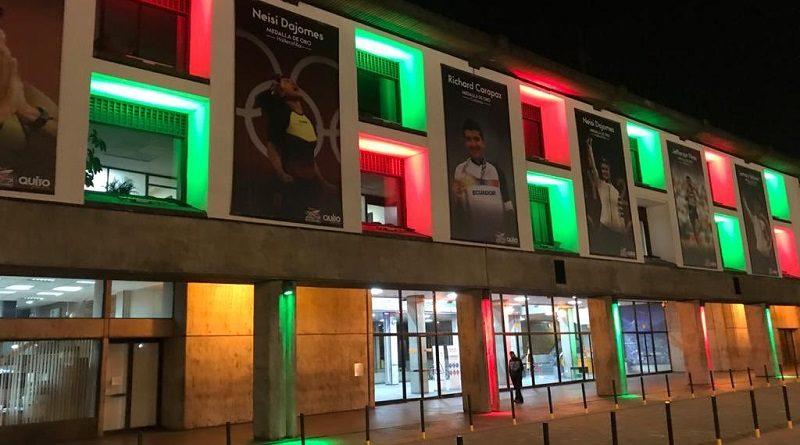 Palacio Municipal se iluminó con los colores de México