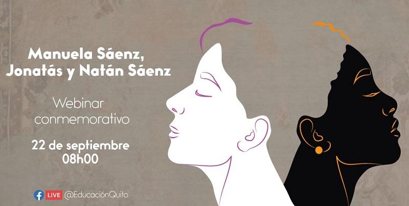 Conversatorio virtual a Manuela Sáenz, Jonatás y Natán Sáenz